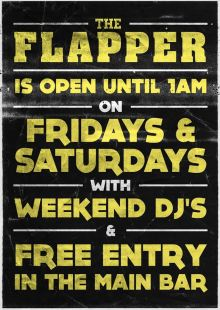 Weekends @ The Flapper