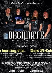 Decimate / No Warning Shot / Days of End