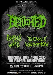 Benighted / Cancerous Womb / Abhorrent Decimation
