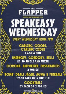 Speakeasy Wednesday