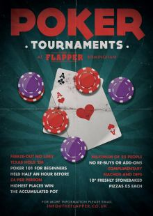 Poker Tournaments @ The Flapper