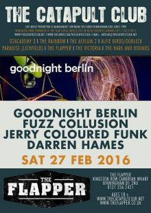 Goodnight Berlin / Fuzz Collusion / Jerry Coloured Funk / Darren Hames