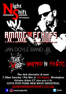 Among The Echoes + Jan Doyle Band + The Webb + Wrapped In Plastic