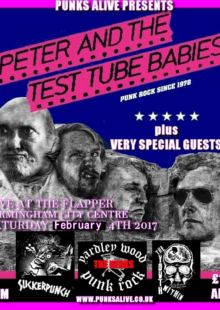 Peter And The Test Tube Babies + Suckerpunch + The Nerks + The Youth Within