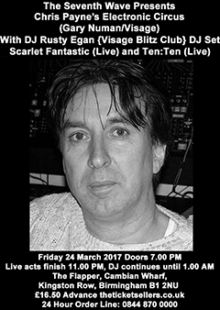 Chris Payne + DJ Rusty Egan + Scarlet Fantastic + Ten:Ten