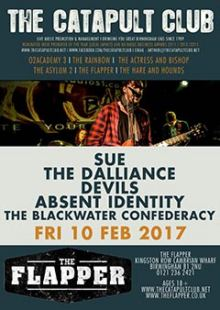 Sue + The Dalliance + Devils + Absent Identity + The Blackwater Confederacy